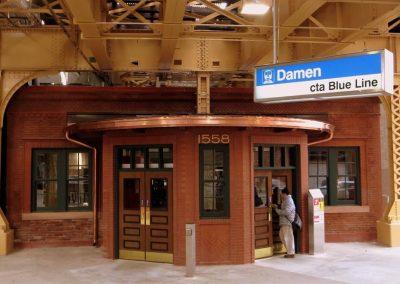 Damen Blue Line Station Rehabilitations